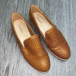 Indigo Rd. Harley Woven Loafers Cognac Flats
